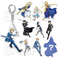 Sword Art Online: Alicization Acrylic Keychain Collection Box Set