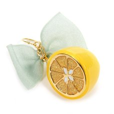 Q-pot. Lemon Ribbon Pierced Earring