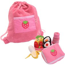 Mother Garden Wild Strawberry Bento Set Backpack