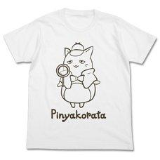The Idolm@ster Cinderella Girls Miyako Anzai Pinyakorata White T-Shirt