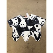ACDC RAG Panda Wavy Crop Top