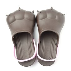 Akiba Sandals - Chocolate x Light Pink