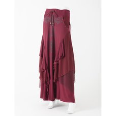 Ozz Croce Layered Long Skirt