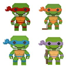 8-Bit Pop!: Teenage Mutant Ninja Turtles - Complete Set