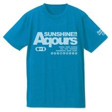 Love Live! Sunshine!! Aqours Turquoise Blue Dry T-Shirt