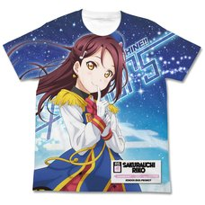 Love Live! Sunshine!! Riko Sakurauchi Happy Party Train Ver. White Graphic T-Shirt