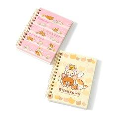 Rilakkuma Motto Nonbiri Neko Spiral Notebooks