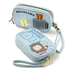 Denim Series Cell Phone Pouch | Rilakkuma/Sumikko Gurashi