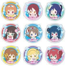 Love Live! Sunshine!! Acrylic Badge: Koi ni Naritai Aquarium Ver. Box Set