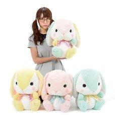 Pote Usa Loppy Pastel Rabbit Plush Collection (Big)