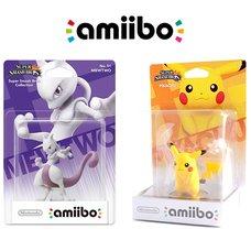 Pokémon Mewtwo amiibo w/ Free Pikachu amiibo