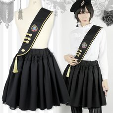 Black MiQuri 2-Way Sash Military Skirt