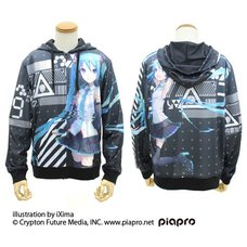 Hatsune Miku V4X Full Graphic Light Hoodie