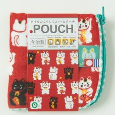 Dot Pouch -  Beckoning Cat