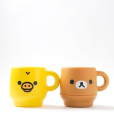 Rilakkuma & Kiiroitori Double-Walled Mugs