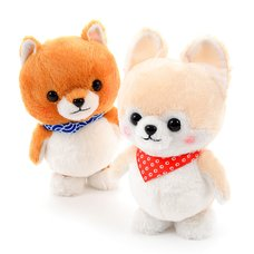 Mameshiba San Kyodai Voice Mimicking & Walking Dog Plush Collection