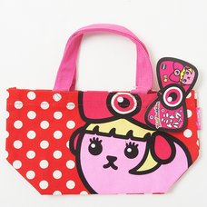 Mameshi-Pamyu-Pamyu Polka Dot Mini Tote Bag