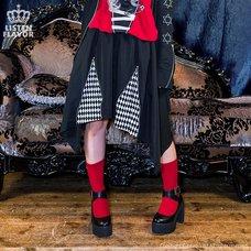 LISTEN FLAVOR Zippered Hem Line Skirt