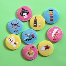Tokyo Pixel Can Badge Collection