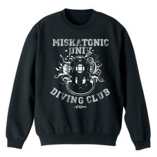 Miskatonic University Diving Club Black Sweater