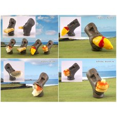 Eating Moai Ornament Collection