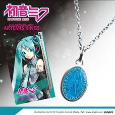 Hatsune Miku Motif Medallion-Style Pendant