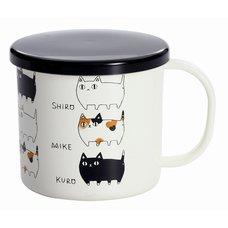 Three Cat Siblings Lacquerware Mug w/ Lid