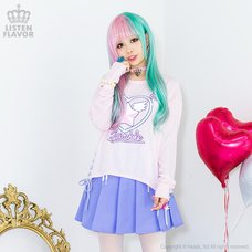 LISTEN FLAVOR Magical Twinkle Heart Lace Up Cutsew