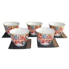 Mahoroba Mino Ware Teacup & Coaster Set