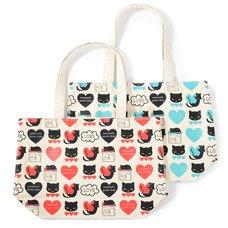 Osumashi Pooh-chan Pattern Tote Bags