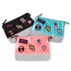 FLAPPER Band Girl Patch Clutch Shoulder Bag