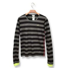 Hatsune Miku Timeline Black & Gray Striped Long Sleeve Cutsew