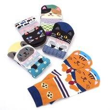 Nagomi Modern Women's Cat Socks Vol. 2
