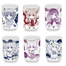 Touhou Project Tea Cups