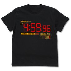 Evangelion Activity Limit Black T-Shirt