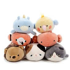 Marshmallow Animal Bolster Cushion Collection
