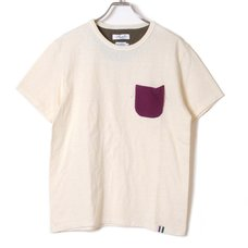 Loopwheel Eva Pocket T-Shirt (Purple x Green)