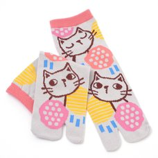 Nagomi Modern Women's Gray Cat Tabi Socks