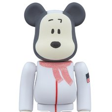 BE@RBRICK 100% Astronaut Snoopy Ver.