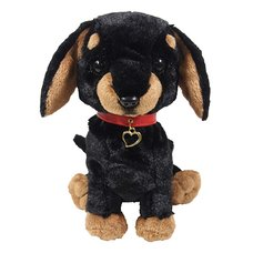PUPS! Medium Black Miniature Dachshund Plush