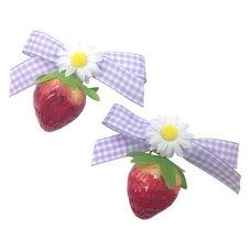 KOKOkim Strawberry & Ribbon Clip-On Earrings