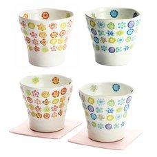 Hana Botan Mino Ware Rocks Cups