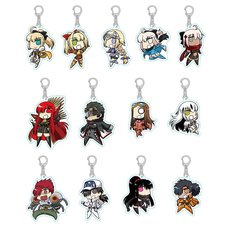 Fate/Grand Order GUDAGUDA Fate 15th Anniversary Acrylic Keychain Collection