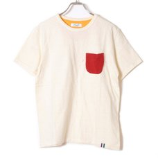 Loopwheel Eva Pocket T-Shirt (Red x Orange)