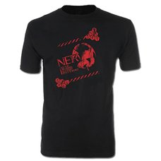 Evangelion New Movie NERV Logo Distressed Men's T-Shirt