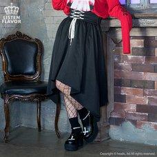 LISTEN FLAVOR Lace-Up Hemline Skirt