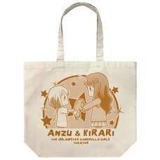 The Idolm@ster Cinderella Girls Theater Anzu & Kirari Natural Large Tote Bag