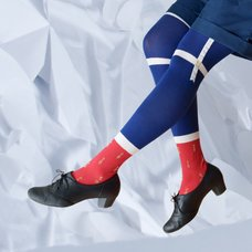 Neb aaran do Gnome Over-the-Knee Socks (Navy x Red)