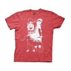 Naruto Shippuden Naruto & Sasuke Outline Adult T-Shirt