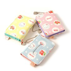 Flower Pattern Mie-chan Folding Pass Cases